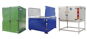 Heating cabinets - heating chambers
