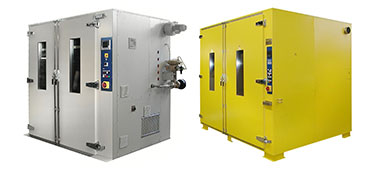 Heating cabinets with vacuum system